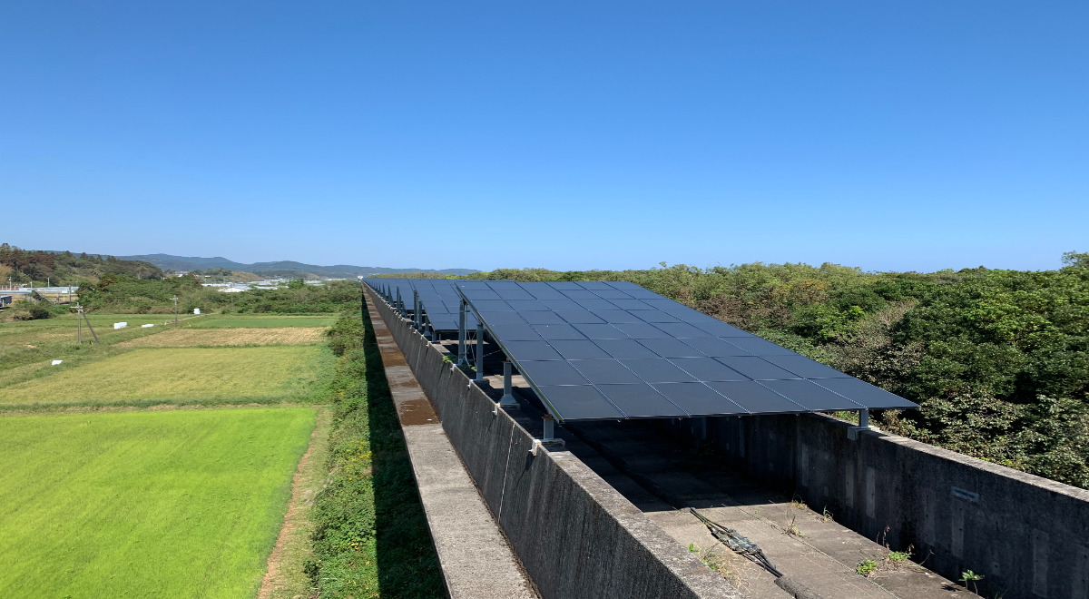 当社が宮崎県都農町で運営する太陽光発電所「宮崎ソーラーウェイ」
