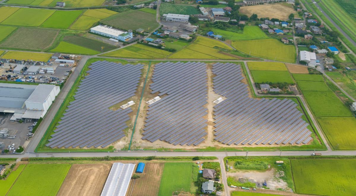 工場跡地を活用した再生可能エネルギー発電所